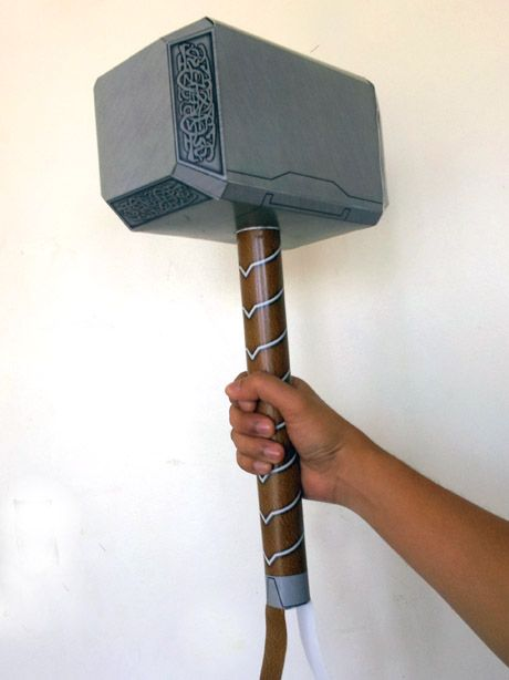 Paper Models and Paper Toys: Thor Hammer Papercraft (Avengers Version